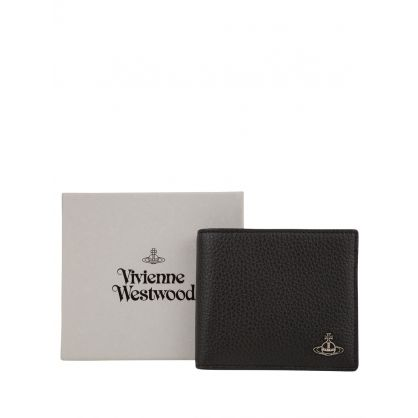 Black Leather Milano Billfold Wallet