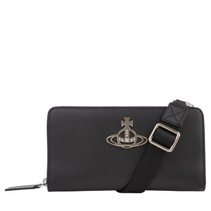 Black Kent Crossbody Wallet