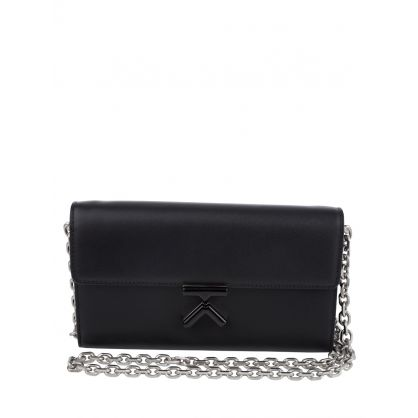 Black Leather K Purse