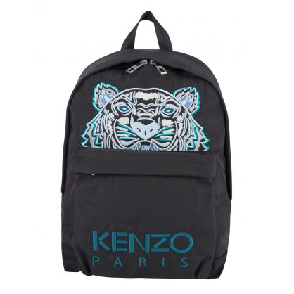 Black Canvas Kampus Tiger Backpack