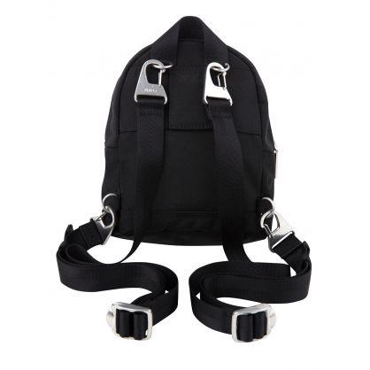 Black Mini Tiger Canvas Backpack
