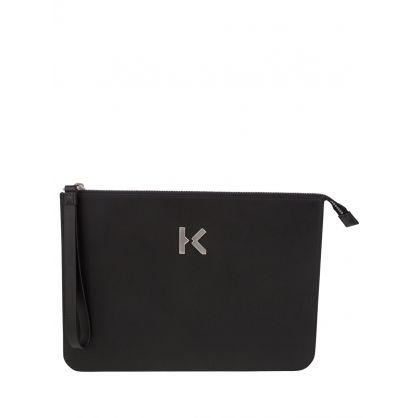 Black 'K' Pouch Bag