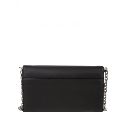 Black K Leather Crossbody Bag