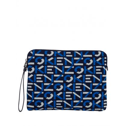 Navy Recycled Material Skuba Clutch Bag