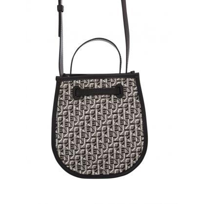 Black/Grey Courier Jacquard Bucket Bag