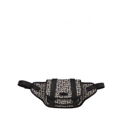 Black/Grey Trek Jacquard Belt Bag