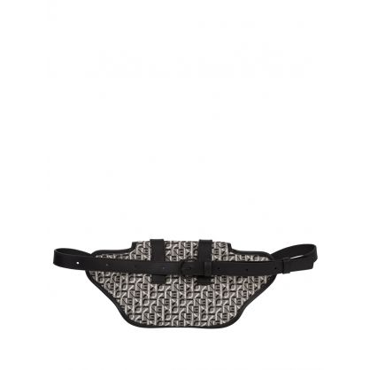 Grey/Black Trek Jacquard Belt Bag