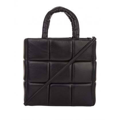 Black Leather Assante Tote Bag
