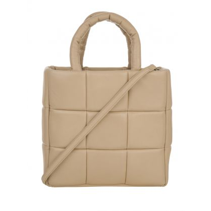 Beige Leather Assante Tote Bag