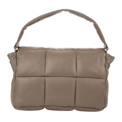 Beige Wanda Padded Clutch Bag