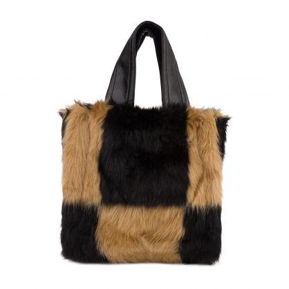 Black/Beige Lucille Check Bag