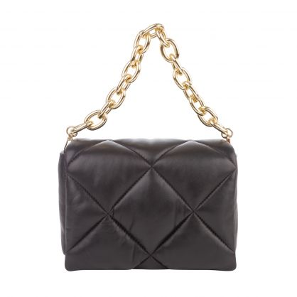 Black/Gold Brynn Chain Bag