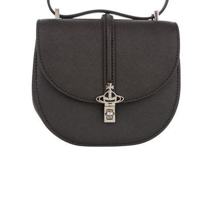 Black Mini Sofia Saddle Bag
