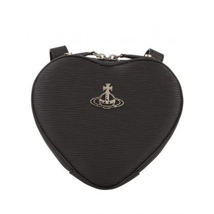 Black Polly Heart Mini Backpack