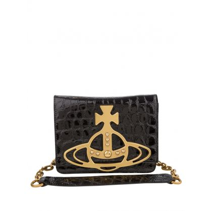 Black/Brass Archive Orb Crossbody Bag