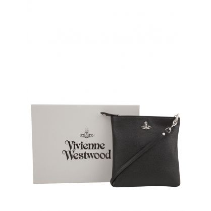 Black Johanna Vegan Square Crossbody Bag