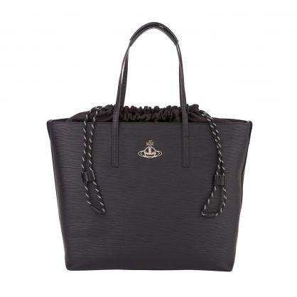 Black Polly Tote Bag