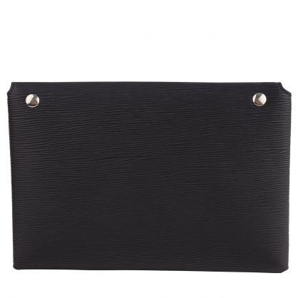 Black Polly Envelope Chain Clutch Bag