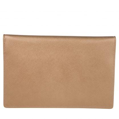 Gold Victoria Envelope Clutch Bag