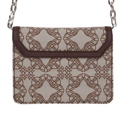 Brown Logo Crossbody Bag