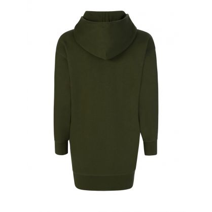 Green Logo Hoodie Dress