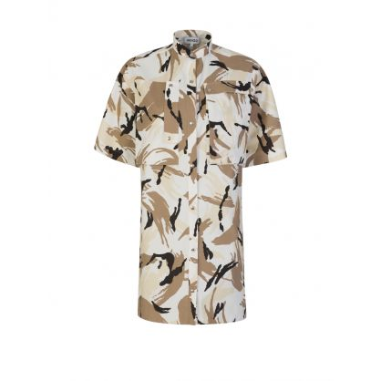 Off White Tropic Camo Shirt Dress