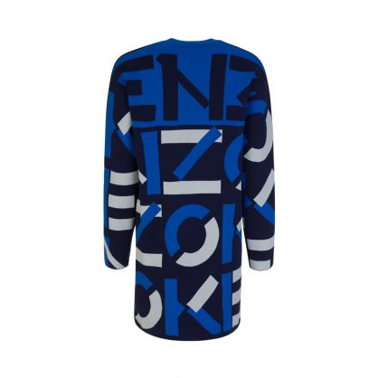 Blue Sport Jacquard Monogram Dress