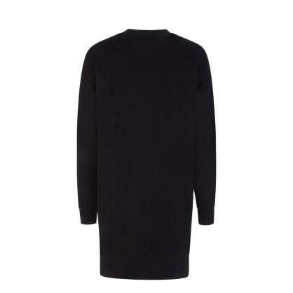 Black Iconic Tiger Sweatshirt Dress