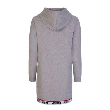 Grey Underwear Logo Tape Hoodie Dress