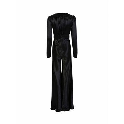 Black Satin Jumpsuit
