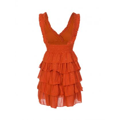 Orange Lolita Mini Dress