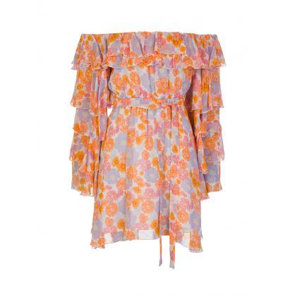 Pink Tess Floral Mini Dress