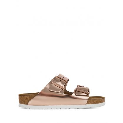 Copper Natural Leather Arizona Sandals