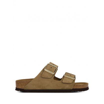 Khaki Nubuck Leather Arizona Sandals