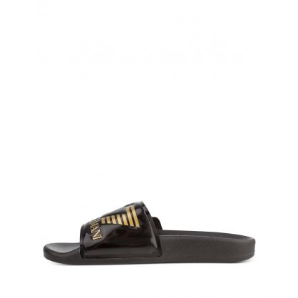 Black Beachwear Slides