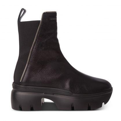 Black Apocalypse Zip Boots