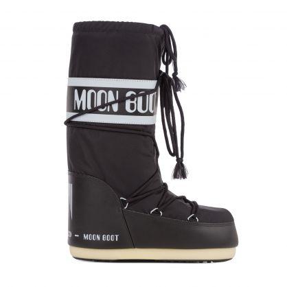 Black Icon Nylon Boots