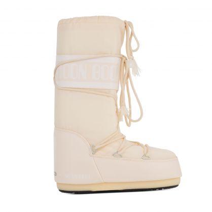 Cream Icon Nylon Boots
