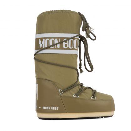 Khaki Icon Nylon Boots