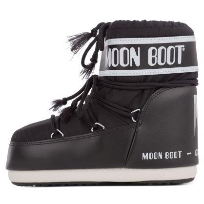 Black Nylon Icon Low Boots