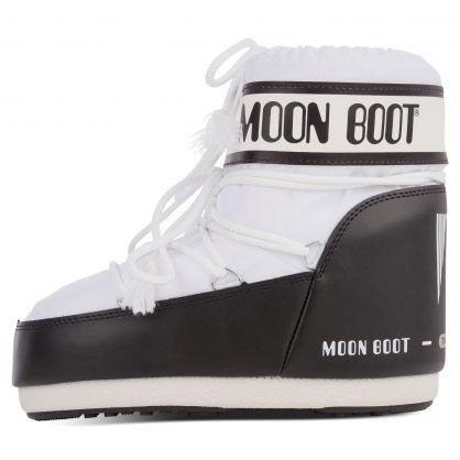 White Nylon Icon Low Boots