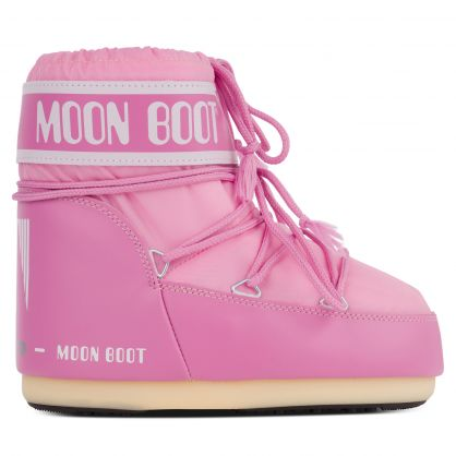Pink Nylon Icon Low Boots