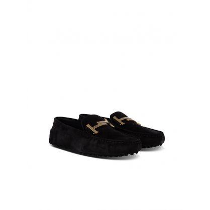 Black Elegant Suede Loafers