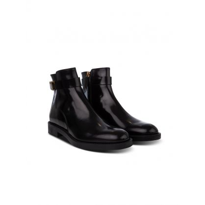 Black Leather Timeless Ankle Boots