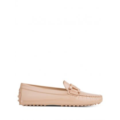 Pink Patent Leather Gommino Driving Shoes