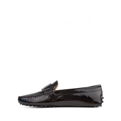 Black Patent Leather High-Shine Finish Loafers