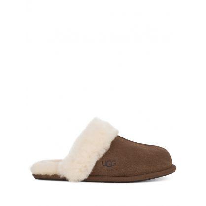 Dark Brown Scuffette II Slippers