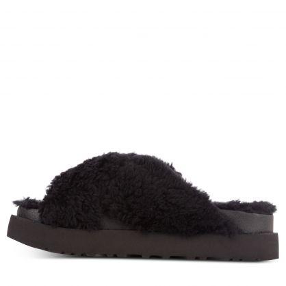 Black Fuzz Sugar Cross Slides