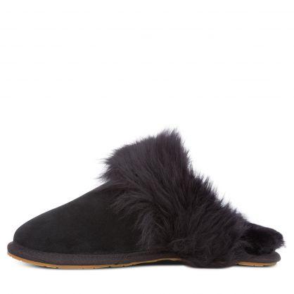 Black Scuff Sis Slippers