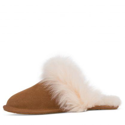Chestnut Brown Scruff Sis Slippers